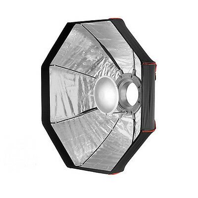 80cm Foldable Beauty Dish Octagon Softbox - Bowens - Photography Studio Silver