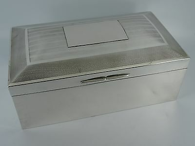 Huge Heavy Solid Sterling Silver Cigar Cigarette Box Chester 1905 1862G