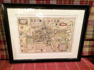 Oxford city - Antique map (Skelton's 1823 reduced engraving)