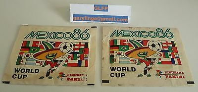 Panini Mexico 86 sealed sticker packet  x 2