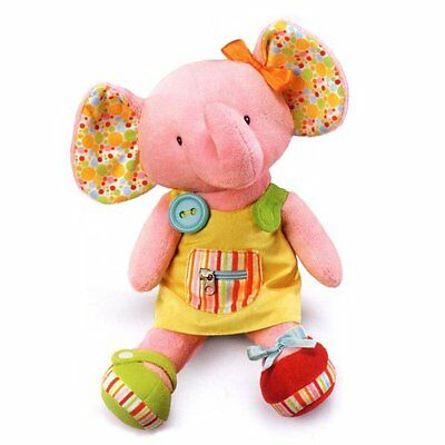 "Russ Berrie Babies Love To Learn 16"" Soft Plush Elephant Activity Toy Doll"
