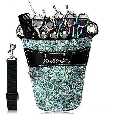 Hairdressing Scissor Bag by Kassaki -  Blue Tool Belt Pouch - Limited Edition