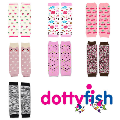 Dotty Fish Baby Toddler Infant Kid Girls Cotton Legwarmers - 6 months - 3 Years
