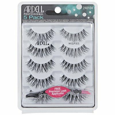 Ardell Lashes Wispies Black 5 Pack Lashes Black 5 Pack With FREE APPLICATOR