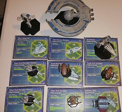 Star Wars Miniatures Starship Battles 9 Mini Slave 1 Battleship Infiltrator