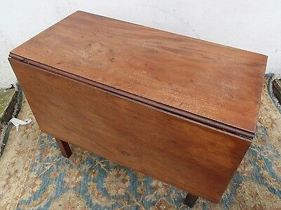 Vintage Retro Antique GEORGIAN Mahogany DROP LEAF Fold DINING Kitchen Table