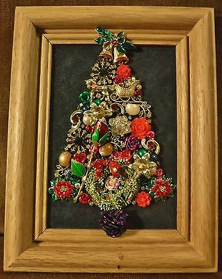 Jewelry Art Christmas Tree, handcrafted and signed by artist