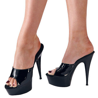 Women's sandals sexy black transparencies with High Heel stiletto and open Monza