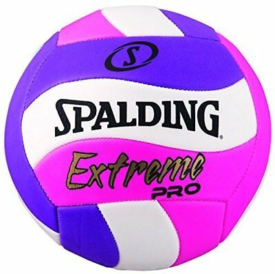 Spalding Extreme Pro Wave Volleyball, Pink/Purple, Official Size