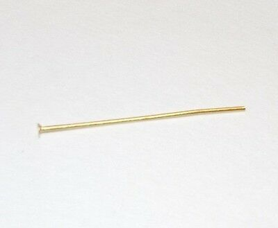 """Lot Of 15 Brass Prism Pins With Head 1 1/4"""" Long 302Jb"""