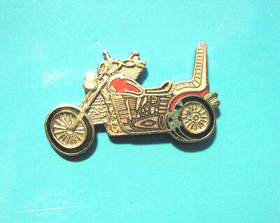 MOTORCYCLE-  with high back seat -- hat pin , tie tac , lapel pin GIFT BOXED