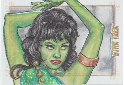 Star Trek TOS 50th Anniversary sketch card Orion Slave Girl by Cleveland