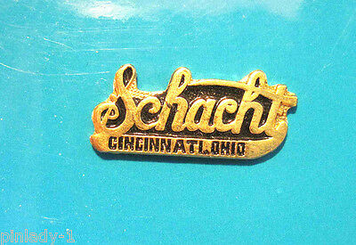 SCHACHT  AUTOMOBILE SCRIPT - hat pin , hatpin , lapel pin , tie tac GIFT BOXED