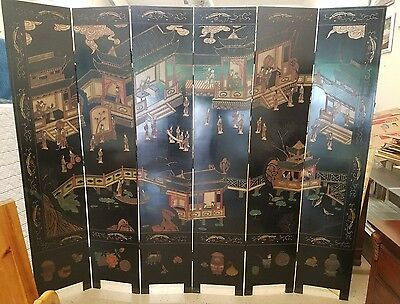 Chinoiserie Asian Oriental Screen And Room Divider