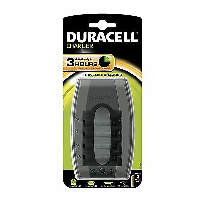 Duracell AA & AAA Battery Charger UK Pin, EU pin, Car Charger and USB Compatable