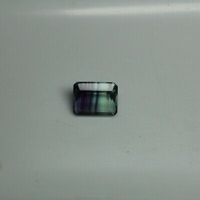 Bi-Color Flourite 11mm x 9mm Faceted Emerald Cut Loose Gemstone Varying CTW