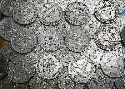 Madagascar 5 Francs (1 Ariary) 1967-1989 KM#10 choose your coin