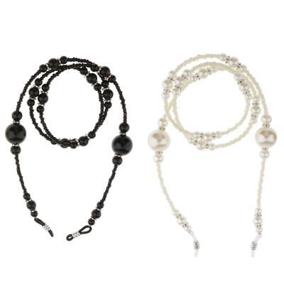 Beaded Eyeglass Holder Necklace Sunglass Eye Sun Glasses Chain Lanyard w/ Pearl