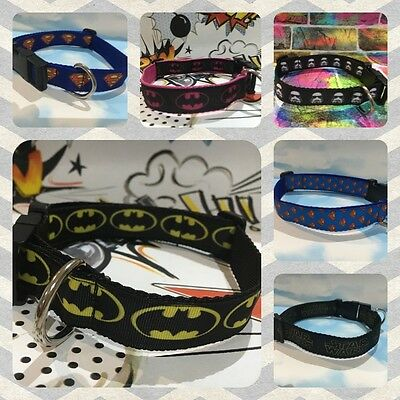 Marvel Superhero handmade Dog and Cat Collar, Batman, Superman, Comic, Star Wars