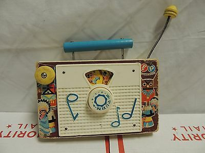Vintage Fisher Price TV-Radio, Ten Little Indians, 1961-1962 #159- Music Box Toy