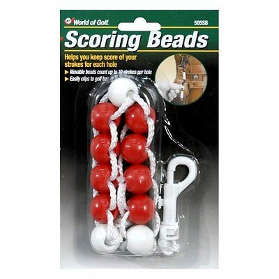 World of Golf Scoring beads keeper pocket sized key chain Stroke Counter 505SB