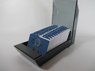 NEW Rolodex Covered Business Card File 500 2.25 x 4 Cards 24 A-Z Tabs #67011