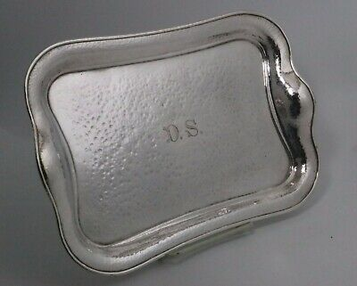 Hammered Sterling Silver Tray by Marcus & Co. New York 1880s-1920