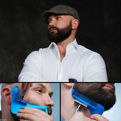 Men's Beard Shaping Tool Shaving Comb for Perfect Lines & Symmetry Line Shaper