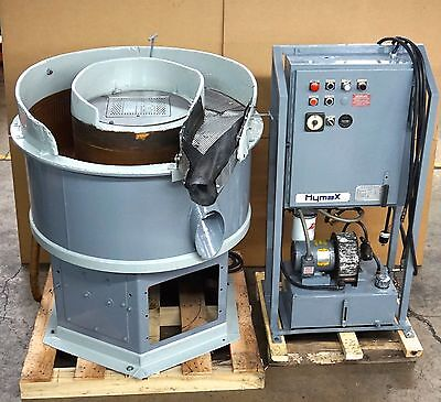 5 cubic feet Brandon Industries vibratory finishing bowl with control panel