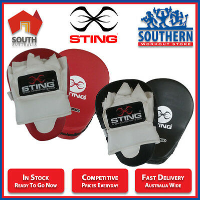 Focus Mitts Pads Boxing MMA Training Sparring Leather Curved Sting Sport Fitness