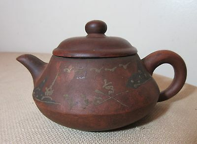 signed antique 19th century Chinese Yixing clay pottery tea teapot kettle