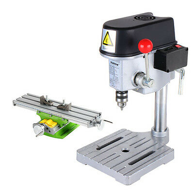 Mini Precision High-Speed Bench Drill Drilling Milling Machine + Workbench 220V