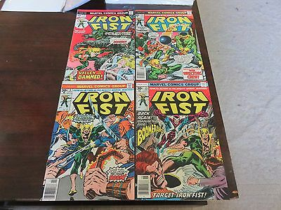 Iron Fist #2, 9, 11, 13 (Dec 1975, Marvel)