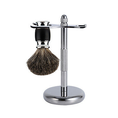 Removable Shaving Stand Razor Brush Holder Stainless Steel Weighted Base Cool g2