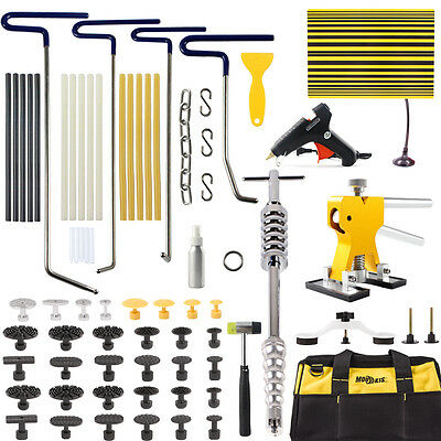 PDR Rods Removal Sticks Dent Puller Lifter Paintless Repair Tap Hammer Tools Kit