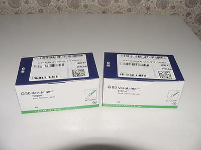 96 BD Vacutainer Eclipse Blood Collection Needle 368607 2 Box 48 2/2019 21 Gauge