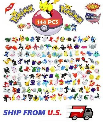144 PCS Pokemon Mini Action Figures Pokémon Go Toy Gift Set ❶FAST SHIPPING❶