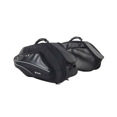 Pair Motorcycle Saddle Bag Expandable Panniers - Sports Side Luggage Bags