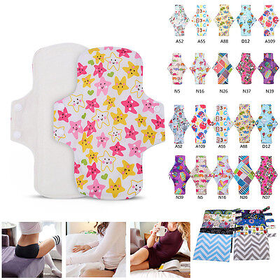 2Sizes Reusable Washable Bamboo Menstrual Sanitary Pads Mama  Pads Liner g8