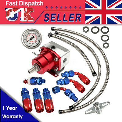 UniversaL Adjustable Fuel Pressure Regulator Kit 160PSI Oil Gauge AN 6 Fittings