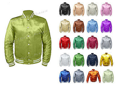 Original American Varsity Letterman College Baseball Bomber Kid Satin Jackets