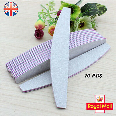 Double Sided MULTI LISTING Grit Boomerang/Banana Curved Nail Files Emery Board