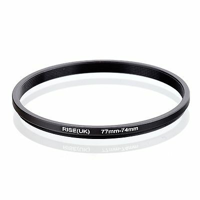 RISE(UK) 77-74mm 77mm to 74mm 77-74 Step Down Filter Ring Adapter