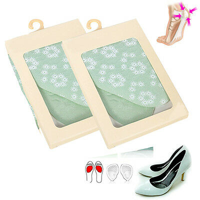 4 pcs Silicone Shoe Pads Insoles High Heel Elastic Cushion Forefoot Foot Care