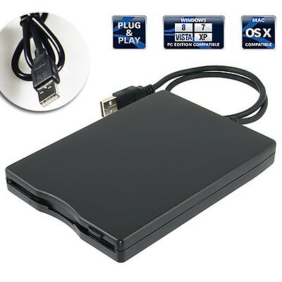"3.5"" USB External Portable Floppy Disk Drive 1.44Mb for PC Laptop Data Storage"