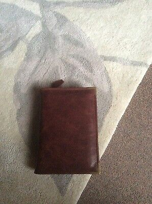 Genuine  brown leather bible cover for standard new world version (DLbi12-E)
