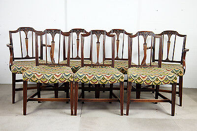 Set Of Seven George Iii Period Chairs