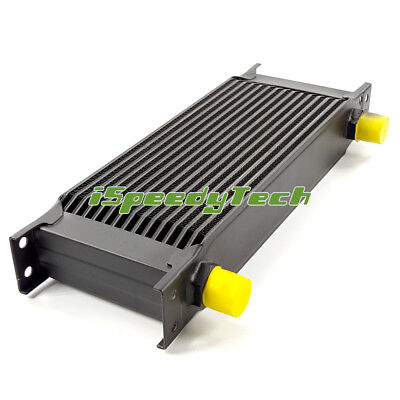 UNIVERSAL Black 15 ROW AN-10AN ENGINE TRANSMISSION RACING OIL COOLER