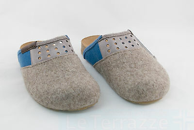 Haflinger Bio Party torf slippers shoes sabot wool warm