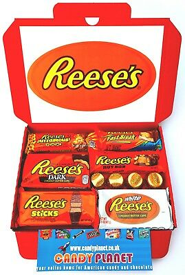 American Candy Sweets Hamper Reese's Peanut Butter Chocolate Birthday Gift R5